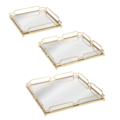 $55.00 Gold Mirrored Tray (large)