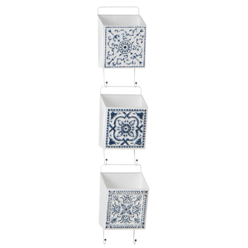 $125.00 Blue & White Metal Pocket Container (set3)