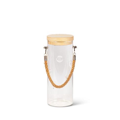 $21.00 Glass Jar - Lighted Lid