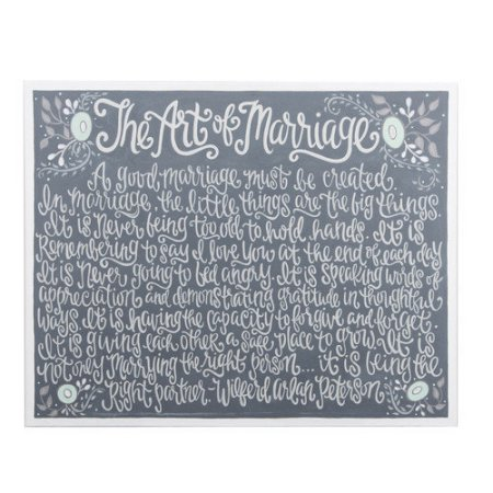 $75.00 The Art of Marriage Canvas 24x30