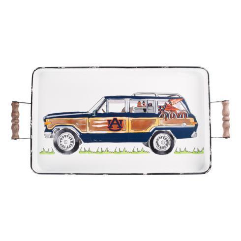 $54.00 Auburn Tray wHandles - 16x20 Enamel Wagoneer