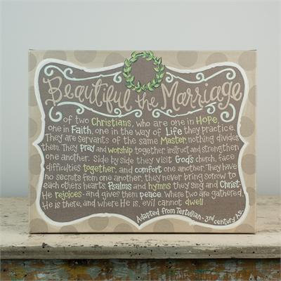 $67.50 Beautiful the Marriage - Canvas