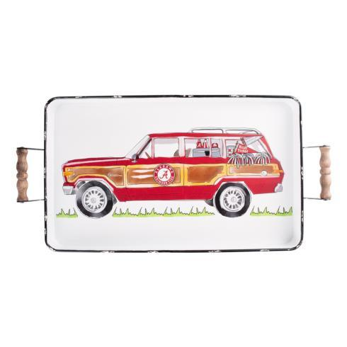 $54.00 Alabama Tray wHandles - 16x20 -Enamel Wagoneer