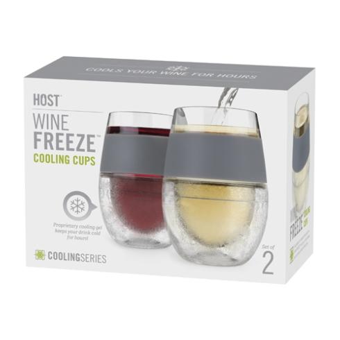 $28.99 Wine Glass Freeze Cups Gray