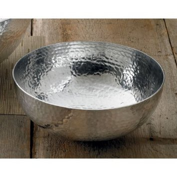India Handicrafts   Salad Bowl - Large Hammered $58.00