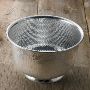 India Handicrafts   Silver Hammered Punch Bowl $56.00