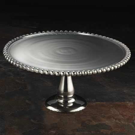 "India Handicrafts   Beaded Cake Stand 11"" $45.00"