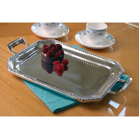 India Handicrafts   Small Rectangle Beaded Tray $34.50