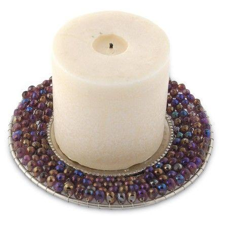 $10.50 Candle Holder - Beaded (candle not included)