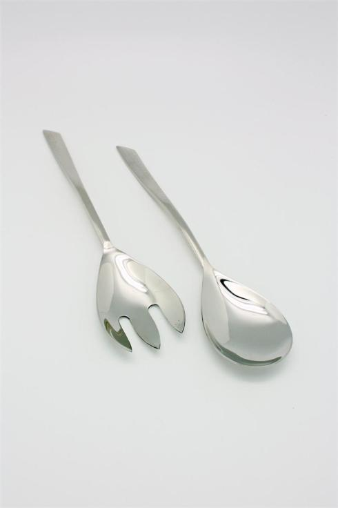 India Handicrafts   Salad Servers Hammered Wave $18.99