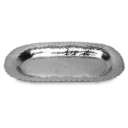 Hammered Tray Medium - Scalloped