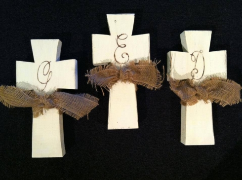 Plum Southern Exclusives   Cross Wooden w initial $28.50
