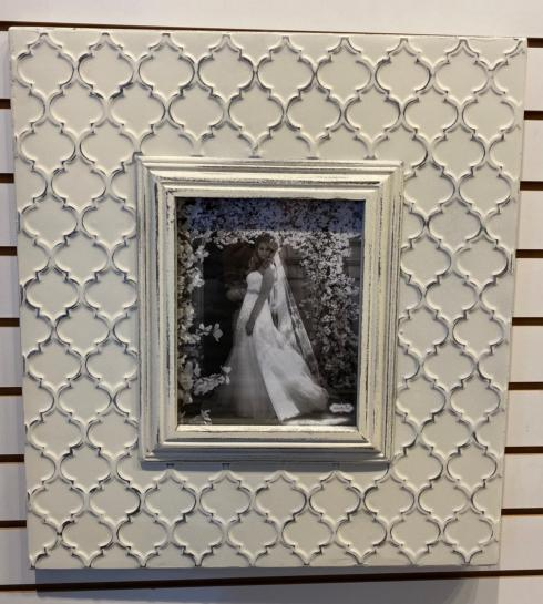 Plum Southern Exclusives   Wall Frame - (holds 8x10) Silver Geometric $130.00