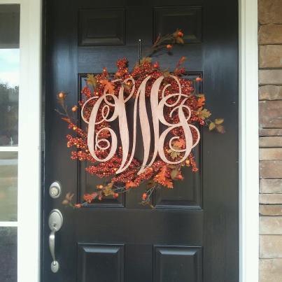 Plum Southern Exclusives   Door Hanger - Monogrammed 3 Letter  $60.00