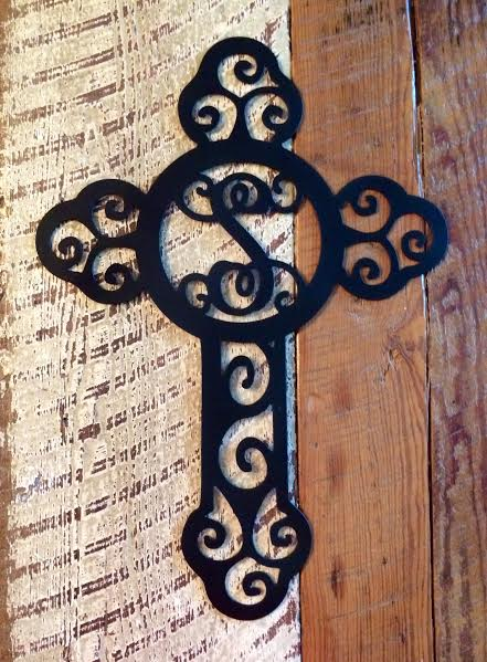 Door Hanger Metal Cross Initial  collection with 1 products