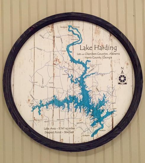 "$125.00 Lake Sign - Lake Harding Barrel End 23"" (Can be custom made)"