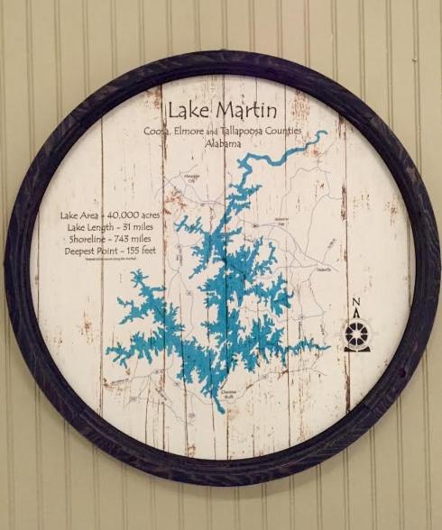$121.00 Lake Sign - Lake Martin - Barrel End - 23