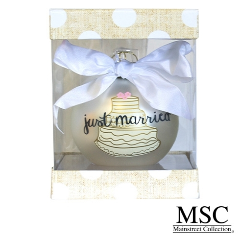 Plum Southern Exclusives   Just Married Wedding Ornament $15.50