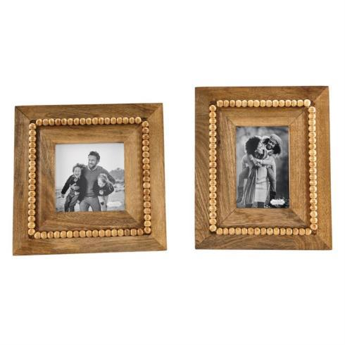 $29.50 picture frame-beaded brown (5x5)