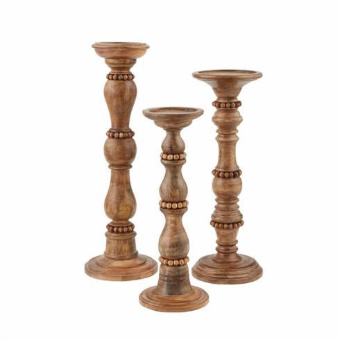 $49.50 Beaded Candlestick Large Brown