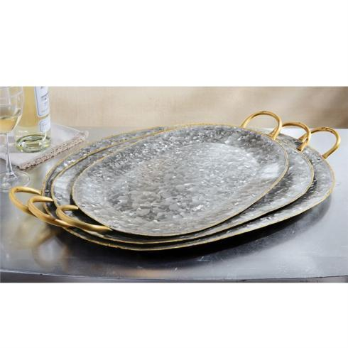 Tray - Galvanized wHandles (large) collection with 1 products