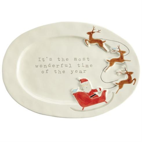 Mud Pie   Platter - Santa Sled $45.00