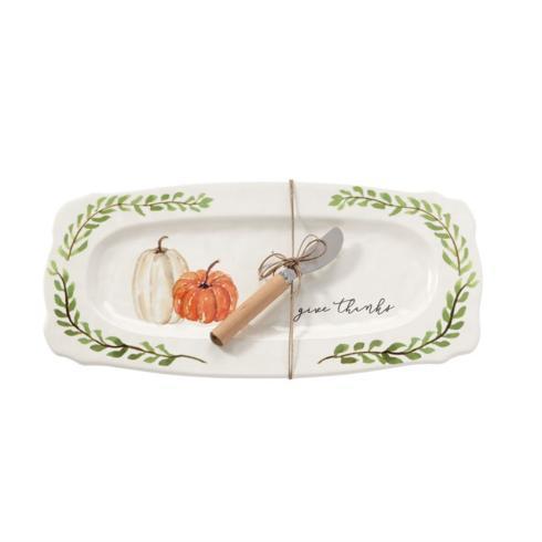 Mud Pie   Platter - Pumpkin (Give Thanks) $32.00
