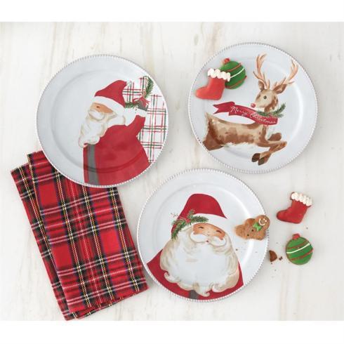 $45.00 Salad Plates - Santa Assorted (set3)