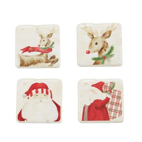 Mud Pie   Coasters - Santa Assorted $17.50