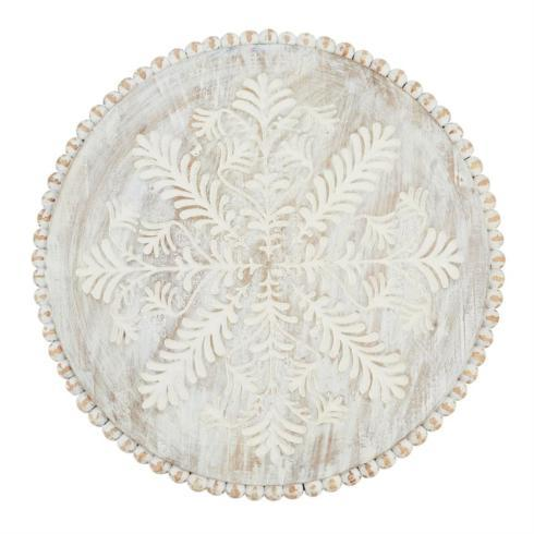 Mud Pie   Lazy Susan - White Washed $67.50