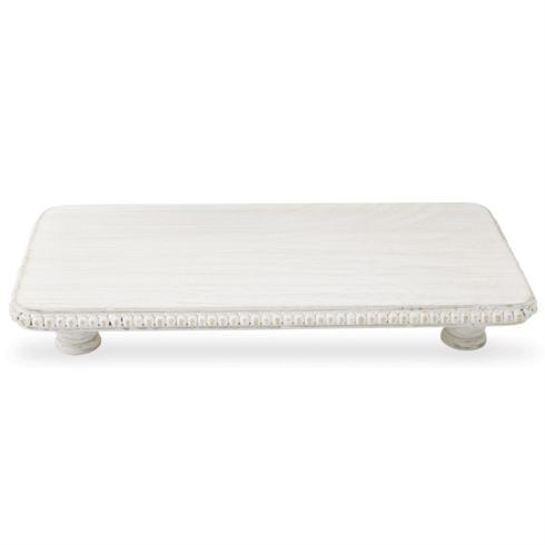 $45.00 Serving Board - Whitewashed Beaded large