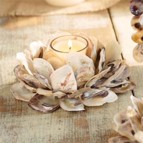 $18.50 Oyster Shell Votive Holder