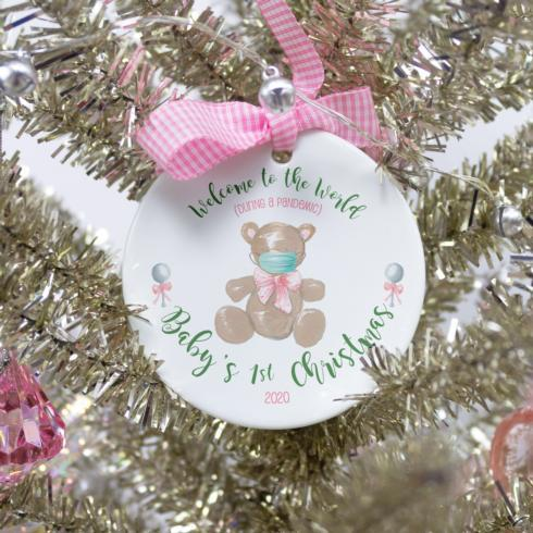 $18.00 Pandemic Ornament - Baby Girl 1st