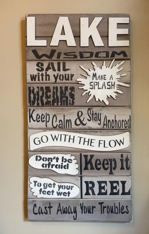 Lake Wisdom Wall Art 16x32 collection with 1 products