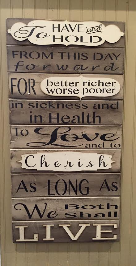 Plum Southern Exclusives   Wood Sign - Wedding Vows - 16