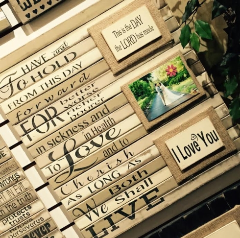 Plum Southern Exclusives   Wall Art Wedding Vows $70.00