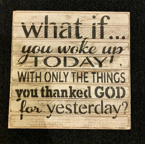 """$28.50 Wood Sign - 12"""" x 12""""  What if..."""