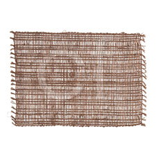 Placemat Rectangle Loom Brown collection with 1 products