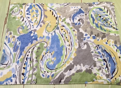 Placemat Paisley Blue collection with 1 products