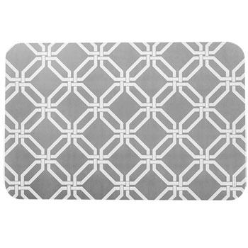Plum Southern Exclusives   Gray & White Vinyl Placemats $3.99