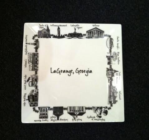 Plum Southern Exclusives   LaGrange Plate Large $47.00