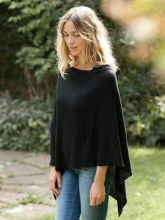 $35.00 Poncho - (lightweight - 4 season) Black