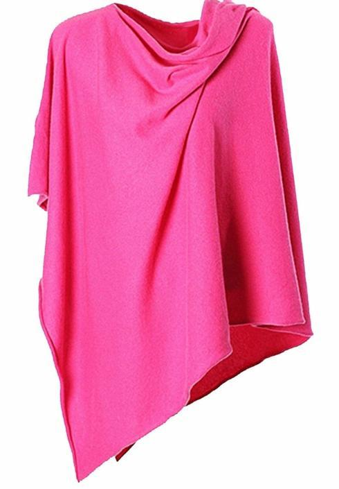 $35.00 Poncho (lightweight - 4 seasons) Hot Pink!