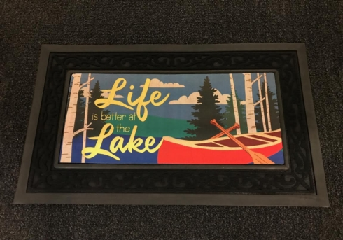 Door Mat Insert-Life at the Lake (this is the insert ONLY) collection with 1 products