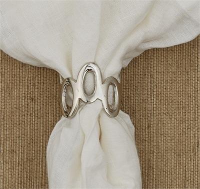 Split P   Napkin Ring - Oval Links $6.00