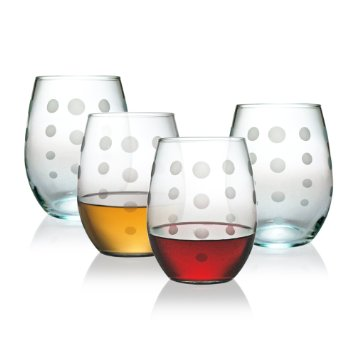 $12.00 Stemless Wine Glass Pearl