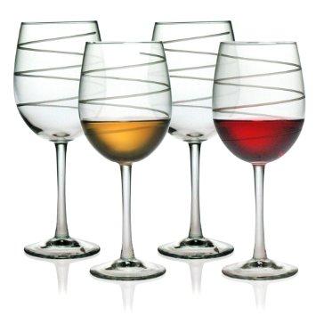 $12.00 Stemmed Wine Glass Spiral