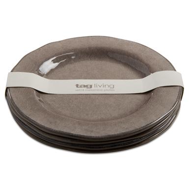 $11.50 Melamine Warm Gray Salad Plate (PRICED INDIVIDUALLY)