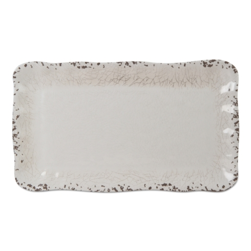 Tag   Melamine Ivory Rectangle Platter $37.00