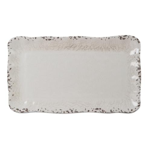 $37.00 Melamine Ivory Rectangle Platter